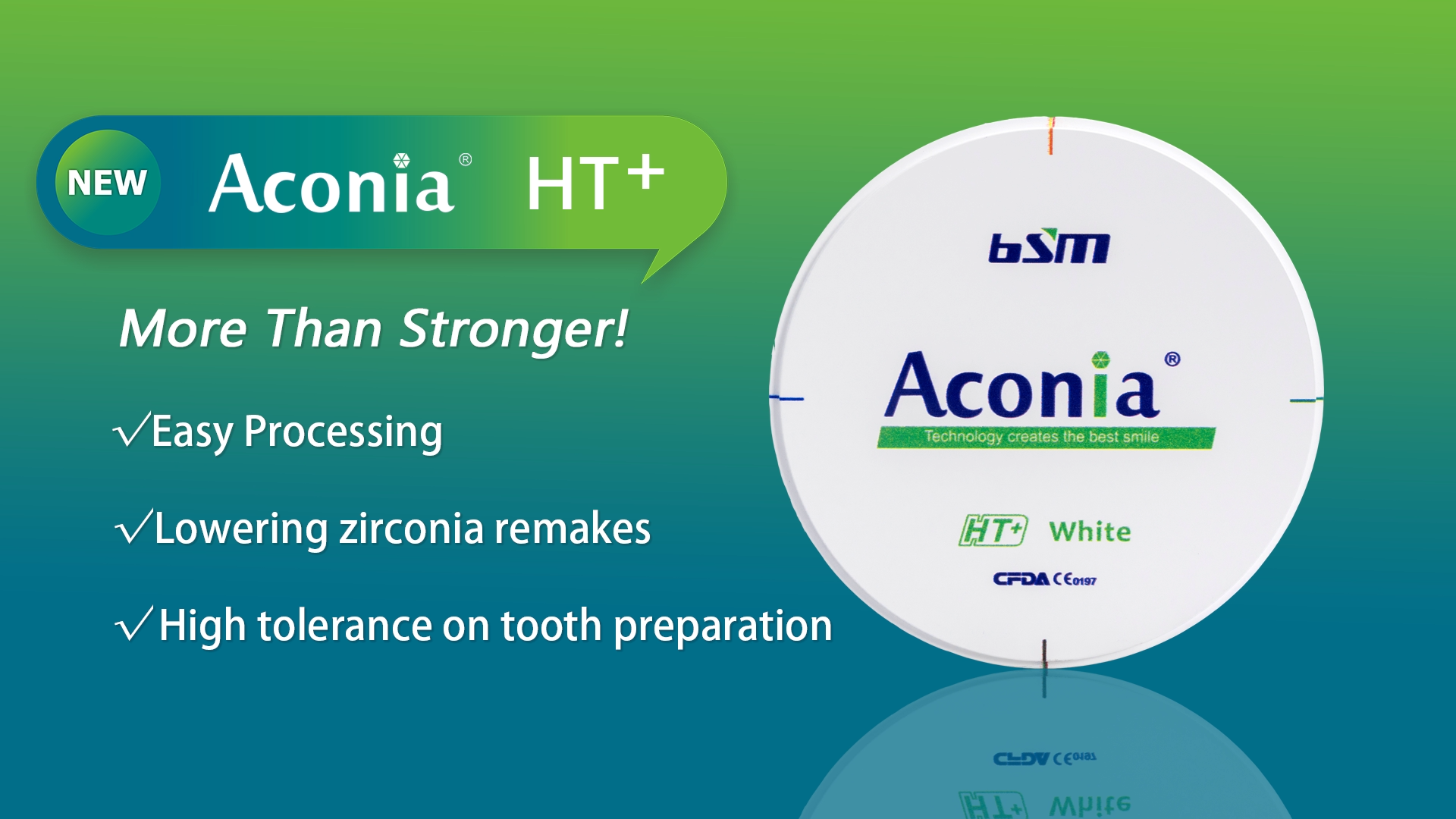What makes Aconia HT+ superior than other zirconia blanks?